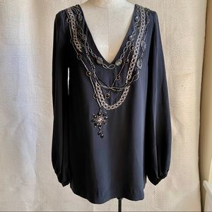 Foley & Corinna Beaded Necklaces Tunic Dress NWOT
